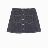 Material : denim Denim skirt 2 front pockets with fox