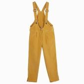 Matière : velours Salopette en velours jaune type