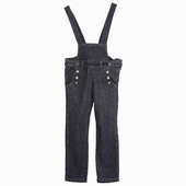 Material : denim Denim dungaree with small bib and