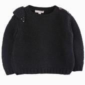 Matière : laine de mérinos Pull en laine tricoté main