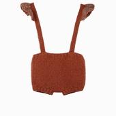 Matière : laine de mérinos Combi-bloomer en laine tricoté