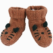 Matière : laine de mérinos Chaussons tricoté main Tricot en