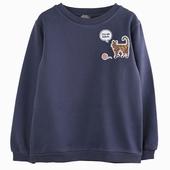 Matière : coton Sweatshirt badges couleur marine Badges