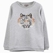 Material : cotton Mottled grey tiger sweat shirt Exclusive