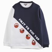 Matière : coton Sweatshirt bicolore Imprimé exclusif