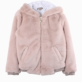 Material : Plush Pink hooded coat with ears Inner coat 100%