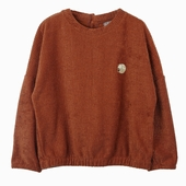 Material : Duffle Brown sweatshirt Elasticated bottom
