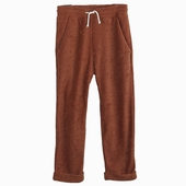 Material : velvet Brown striped trousers 2 front pockets