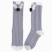Matière : coton Chaussettes hautes Motif pied-de-poule