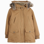 Fabric: Cotton  Lion parka Ears on the hood Fake fur on the