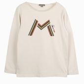 Material : cotton Long sleeves t-shirt in ecru M and Monster