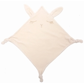 Doudou velours Broderie lapin exclusive lurex or, avec