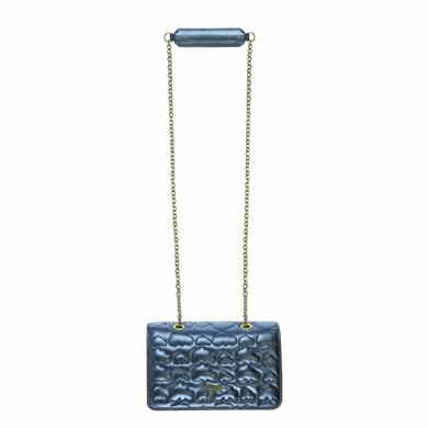 sac a main cuir metallic blue sacs