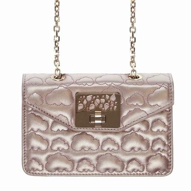 sac a main cuir metallic pink sacs