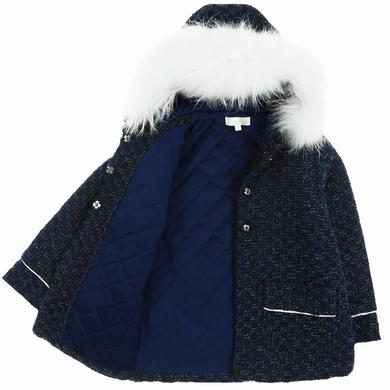 manteau navy black fille