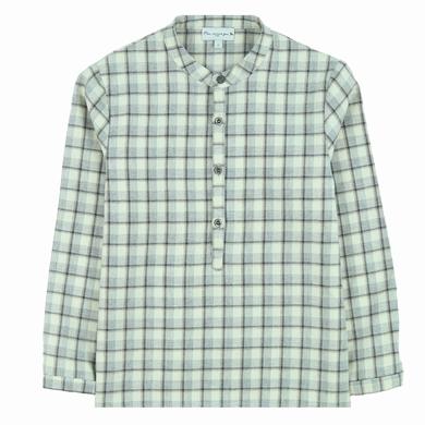 chemise grey checks garcon