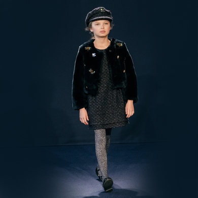 robe couture navy black fille