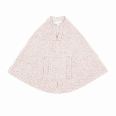 poncho  pale pink baby