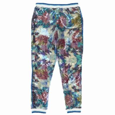 pantalon couture glitter fille