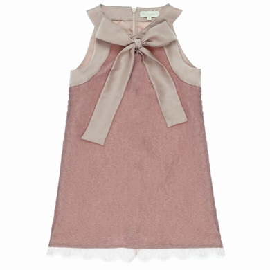 robe couture pink gold fille