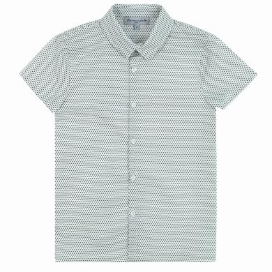 chemise brown dots garcon