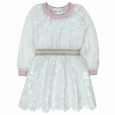 robe couture white silver fille