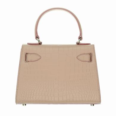 sac pink croco accessoires