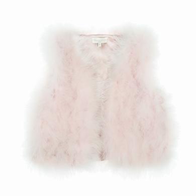 gilet fourrure pale pink fille