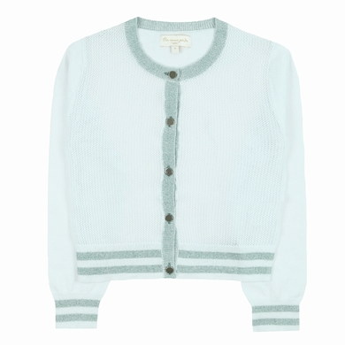cardigan off white fille