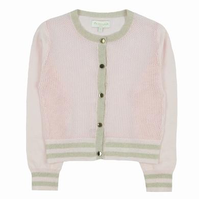 cardigan pale pink fille