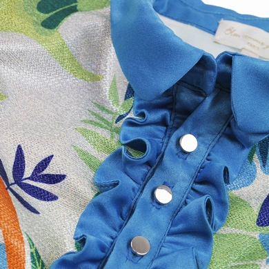 robe couture blue fille