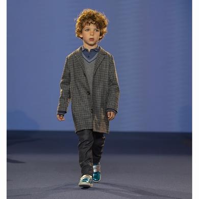 manteau long pieds coq garcon