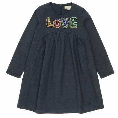 robe manches longues navy fille