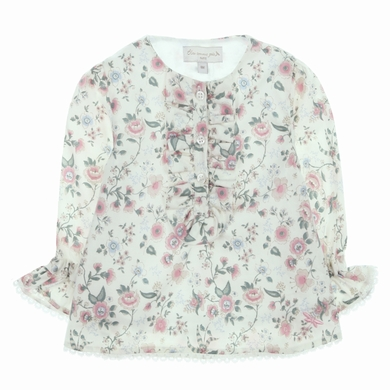 blouse col rond flo pink bebe