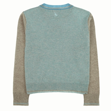 pull col v mix blue garcon