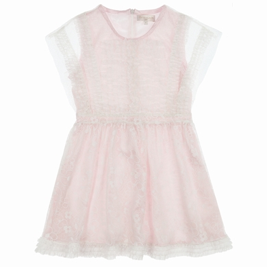 robe gaze mousseline pale pink fille
