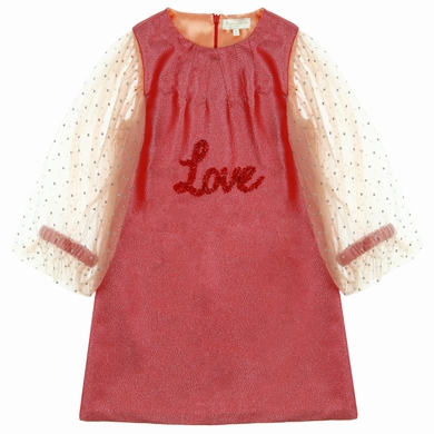 robe lame tulle flame fille