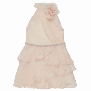 robe plisse  pale pink fille