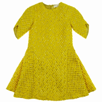 robe yellow fille