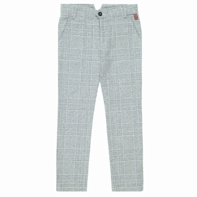 pantalon grey blue checks garcon