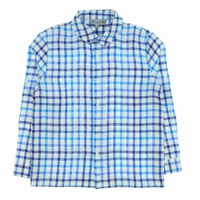 chemise checks azurra garcon