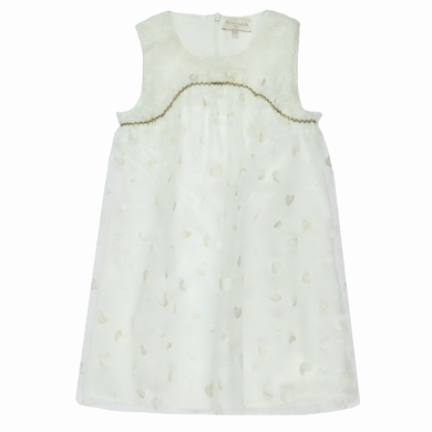 robe tulle organza white fille