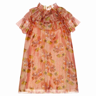 robe lame flo pink fille