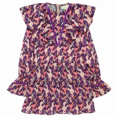 robe  birds pink fille
