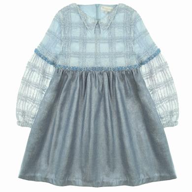 robe dentelle serge blue fille