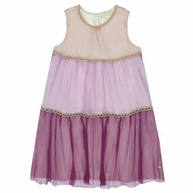 robe mousseline  pink fille