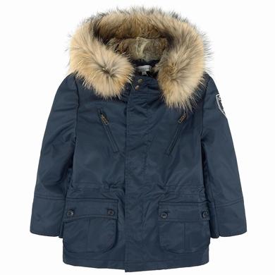 Manteau bleu comme gris