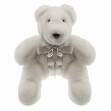 ours peluche white accessoires