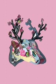 Un trophée cerf Miho poétique, fantaisiste et un brin