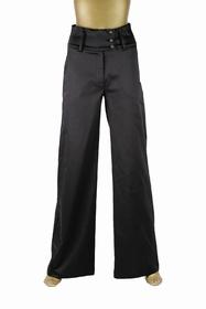 Pantalon large Taille haute , ceinture hauteur 9 cms fermée